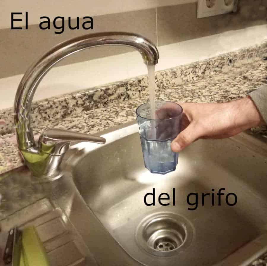 Agua del grifo en Madrid y Barcelona